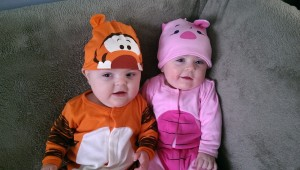 Max and Lia celebrate their first Halloween!