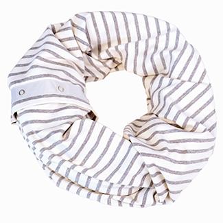 Gray + Ivory Striped